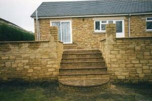 Stonework- garden-wall