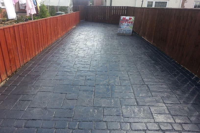 Patterned Concrete Driveway Newcastle Project